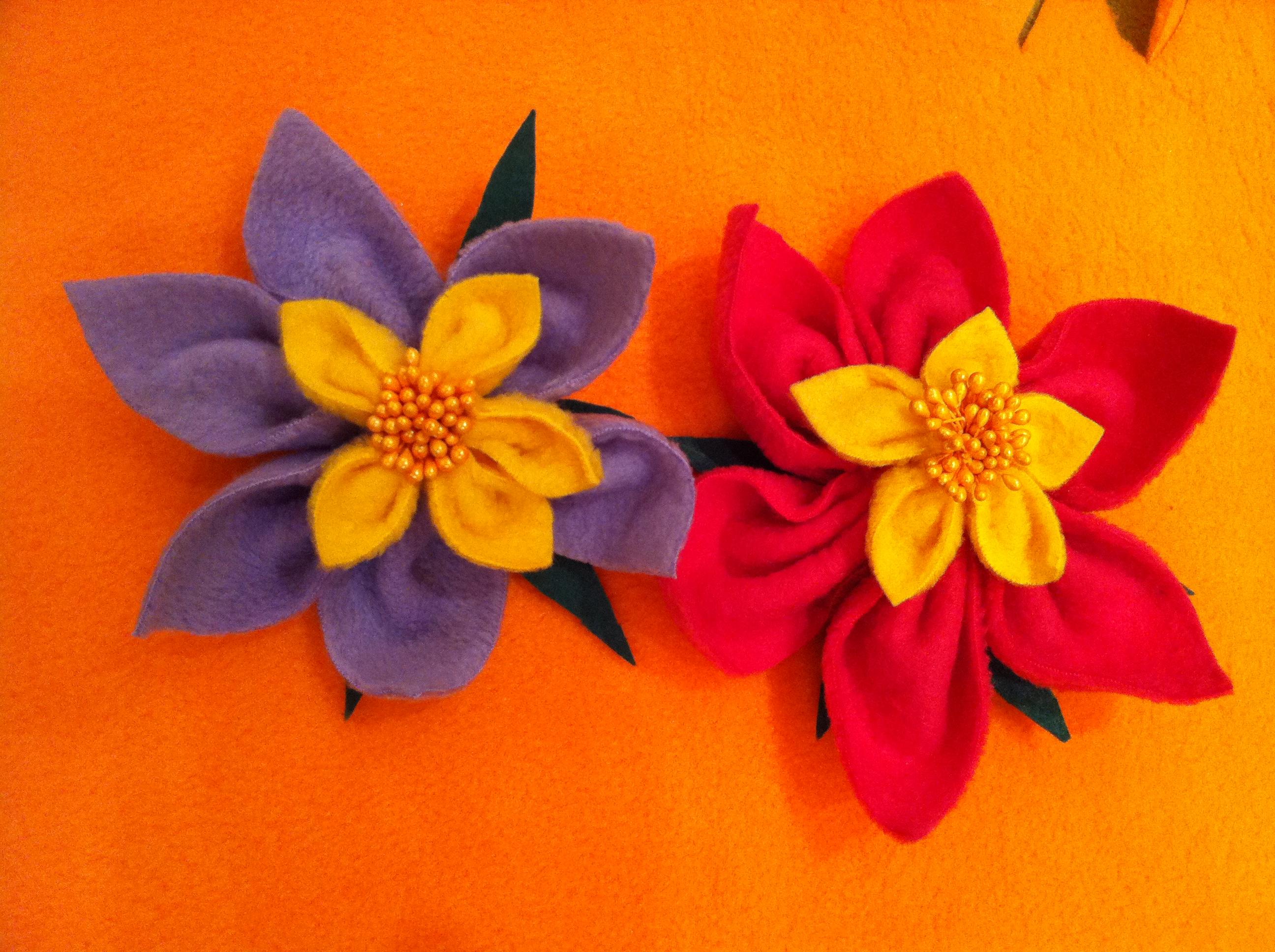Цветы из флиса своими руками фото